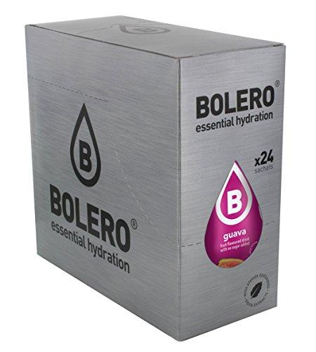 Bolero Bebida Instantánea sin Azúcar, Sabor Guayaba - Paquete de 24 x 9 gr - Total: 216 gr