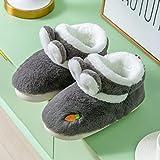 Jardín Sandalias,Paquete posparto con Zapatos de confinamiento, Zapatos de Maternidad cálidos de Suela Blanda-Grey_40-41,Slippers Suave