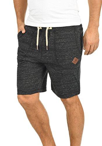 !Solid Aris Herren Sweatshorts Kurze Hose Jogginghose Mit Melierung Und Kordel Regular Fit, Größe:L, Farbe:Black (9000)