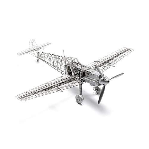 LXQ Metal Modelo De Avión Kit De Rompecabezas Mecánico 3D Avión Metal Kit De Rompecabezas Modelos De Juguetes