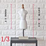 Acturen 1/3 Female Woman Body Mannequin Sewing for Female Clothes,Busto Dresses Form stand1:4 Scale Jersey Bust can pin 1pc C760