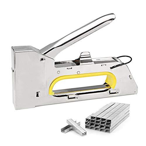 Menos esfuerzos grapas 4/6 / 8mm pesada mano pistola de clavos papel de la ventana Muebles grapadora for enmarcar con 2400pc Herramientas Grapas carpintería Tacker
