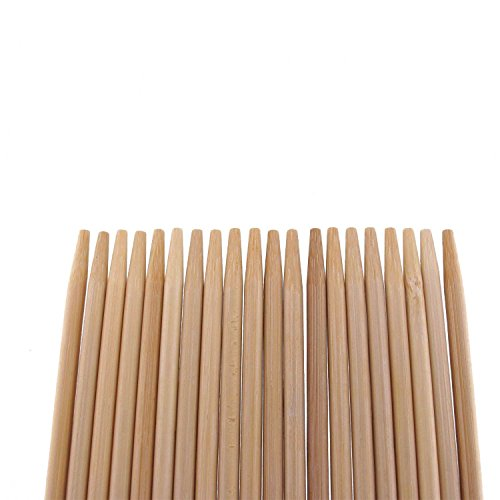 BambooMN Premium 17.5' Inch (1.5ft) Long 5mm Thick Safe Multipurpose Tornado Twist Potato Bamboo Skewers, 100 Pieces Perfect for Camping or Outdoor Party, Garden Sticks