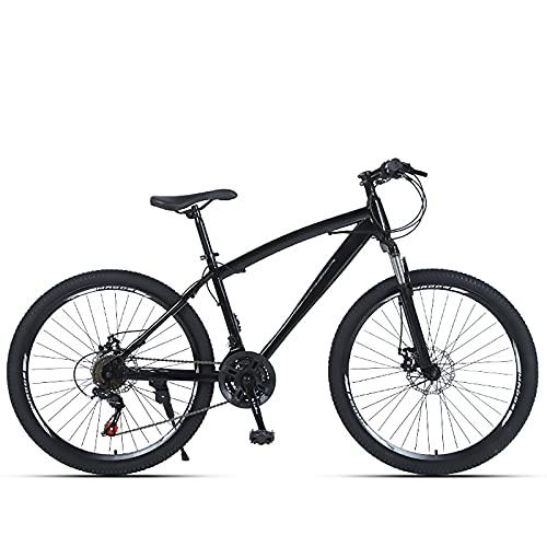 HAOANGZHE Bicicleta de montaña de 24/26 Pulgadas, Marco de Grasa de Acero al Carbono, neumáticos Antideslizantes, 21/24/27 Velocidad Variable, Hombres, Mujer Mejora Bicicleta