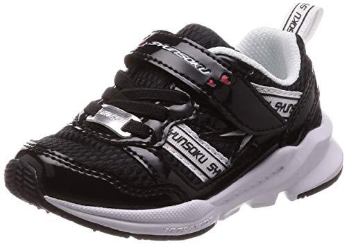 [シュンソク] 運動靴 通学履き 瞬足 幅広 衝撃吸収 高反発 15~23cm 3E キッズ 女の子 LEC 5720 ブラック 19 cm
