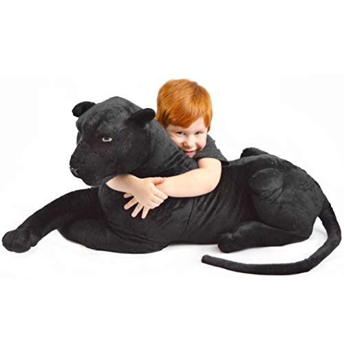 VIAHART Pana The Black Panther | 42 Inch (Tail Measurement Not Included!) Big Stuffed Animal Plush Leopard | Shipping from Texas | by Tiger Tale Toys