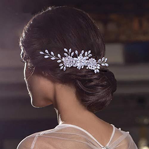 tocados boda,flores pelo,tocados pelo,adornos pelo,peinetas pelo,Tiara de boda peines de novia con...