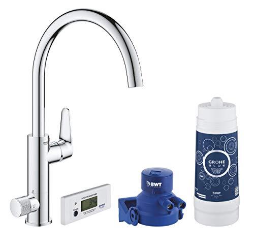 GROHE Blue Pure BauCurve | Wasserhahn Starter Kit Wassersprudler | Chrom | 30385000