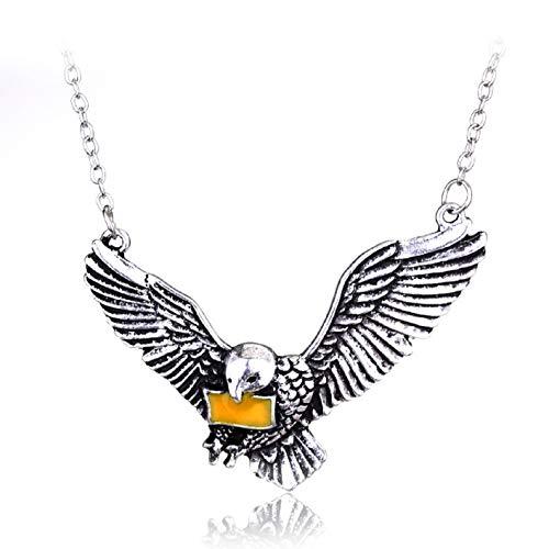 Collar con colgante de paloma para hombre, collar con colgante de pájaro con cadena de 45 cm