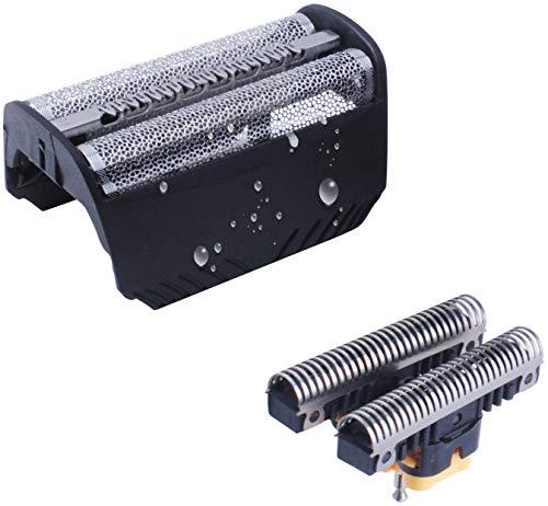 30B Cabezales de Afeitado Compatible con Bra-un Afeitadora Eléctrica Hombre, Lámina y Cuchillas de Repuesto Poweka Compatible con Bra-un Serie 3 SmartControl TriControl y Syncro Pro