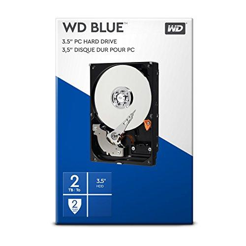 WD Blue 2 TB Interne Festplatte (8,89 cm (3,5 Zoll) 5400 U/min, SATA, 6 Gb/s, 64 MB Cache) (Retail Kit)