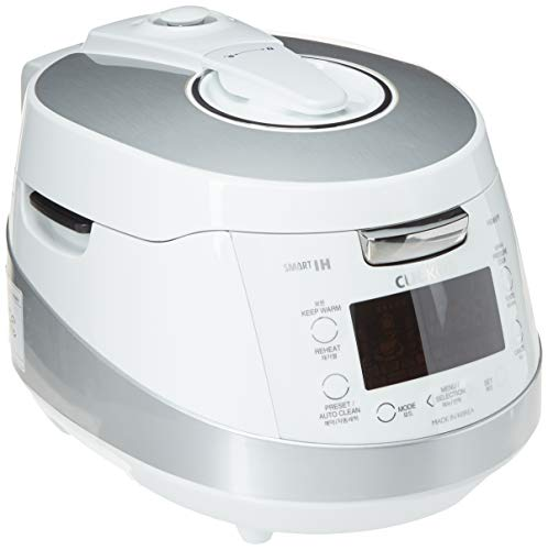 Cuckoo CRP-HS0657F 6 Cup Pressure Rice Cooker, 110V, White