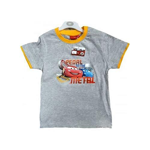 T-shirt demi manches en coton enfant Disney Cars collet orange par les 2 à 5 ans 4 - 5 anni arancio