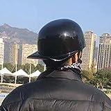 NZGMA Gorra de béisbol de Verano para Motocicleta, Medio Casco, Certificado por ECE, Estilo alemán, Gorra Negra para Todas Las Estaciones, Retro, Cara Abierta, para Mujer, Street Cruiser, Jet Ch