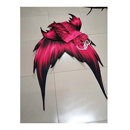Traje De Bano Sirena Niñas,Adulto Disfraz De Sirena Princesa Cosplay Conjuntos,Tamaño Personalizado Traje de baño Princesa Sirena (Color : Style P)