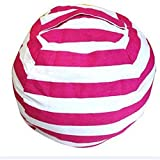 LIUCM Creative Modern Storage Stuffed Animal Storage Bean Bag Chair Portable Clothes Toy Storage Bags(Rose Red)