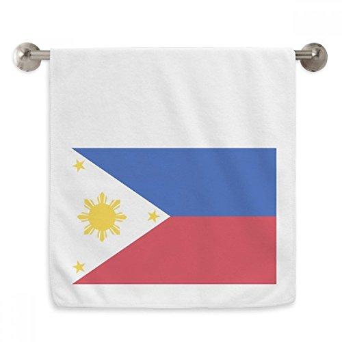OFFbb Philippinen nationalFahnege Asien Land Circlet weiße tücher weichen Handtuch waschlappen 13x29 Zoll