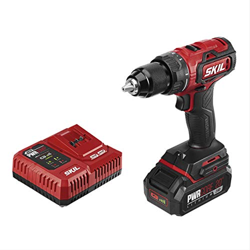 SKIL PWRCore 20 Brushless 20V 1/2 Inch Cordless Impact Driver With 2.0Ah Lithium Battery and PWRJump Charger- DL529302