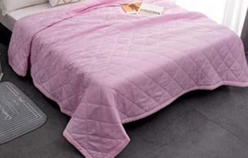 PENVEAT Twin King Queen Size Solide rosa weiß Sommer Quilt Tagesdecke Bettdecke Bettdecke Quilten Home Geeignet dünne Bettdecke, 2.175x195cm