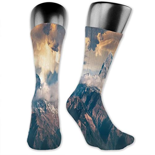 Mountains 3-piece socks casual breathable sports suitable for all seasons unisex adults