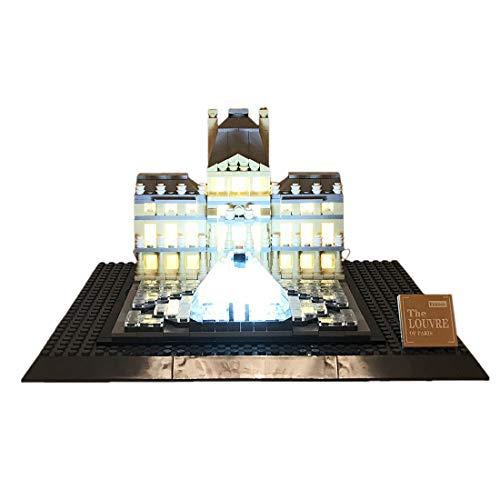 Yavso USB Beleuchtungsset für Lego, LED-Licht Set LED Beleuchtung Baustein Spielzeug Licht Set für Lego Louvre Architecture 21024 (Nicht enthalten Lego-Modell)