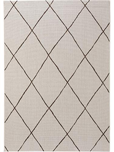 benuta PLUS In- & Outdoor-Teppich Metro Cream 80x150 cm - Outdoor-Teppich für Balkon & Garten