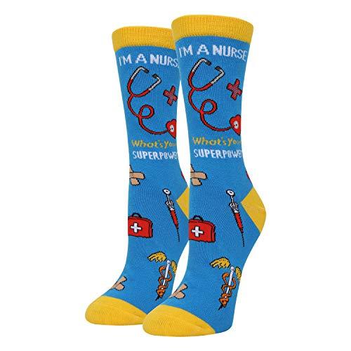 Happypop Medizinische Socken für Krankenschwestern, Ärzte, Krankenschwestern, Ärzte und medizinische Schulabschlüsse - - Medium