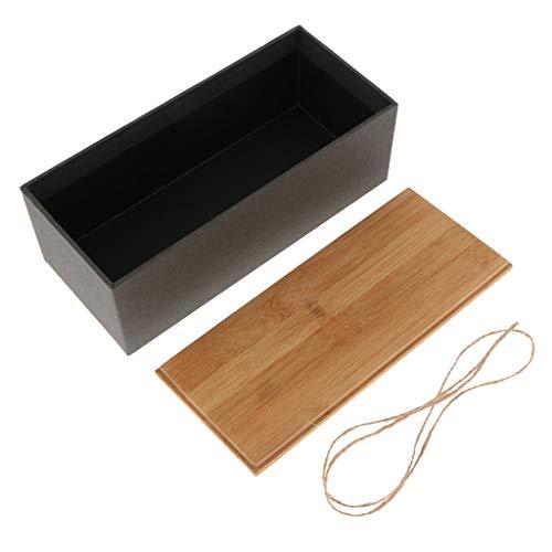 F Fityle Vorratsdose Teebox Teedose Kaffeedose mit Bambus Deckel für Tee Kaffee Gewürz Kräute - D