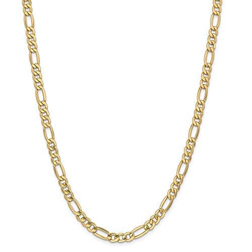 Pulsera de oro de 14 quilates, 6,25 mm, semisólida, para mujer, 23 cm