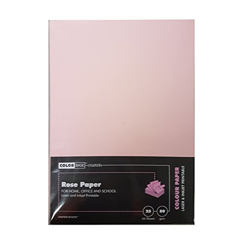 Farbe Boden 80gsm Papier–Rose (25Stück)