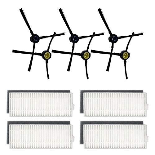 IUCVOXCVB Accesorios de aspiradora Filtro Cepillo Lateral Cepillo Rodillo Ajuste para SILVERCREST SSR1 Robot Limpiador de aspiradora Kit de Limpieza Piezas reemplazables (Color : A)