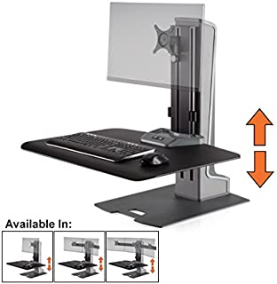 Stand Steady Winston-E Electric Single Monitor Mount Sit-Stand Desk (Innovative WNSTE-1-270) | One Monitor Stand up Workstation Converter with VESA Mount| Height Adjustable! (Electric/1 Monitor)