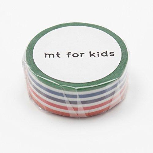 Japanese Washi Masking Tape - MT Kids Mini Set Colourful Stripe