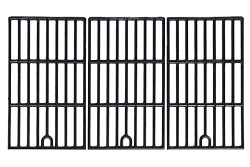 Hongso Matte Cast Iron Cooking Grid Replacement for Kenmore 148.16156210, 148.1637110, Master Forge 3218LT, 3218LTM/LTN, E3518-LP, L3218, Perfect Flame SLG2007D, 17 3/4' Grill Grate, Set of 3, PCZ273