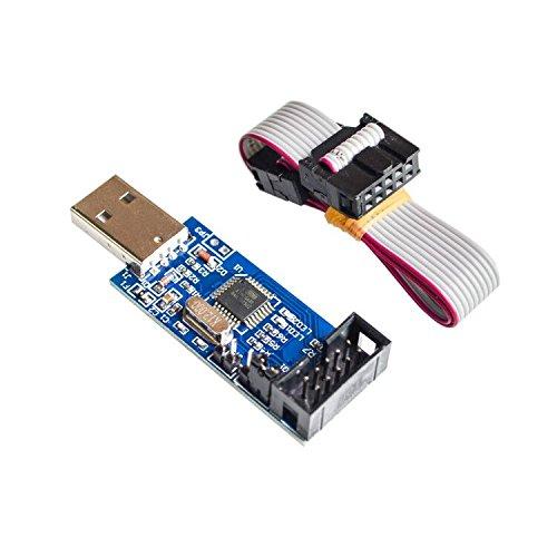 1LOT Neuer USBASP USBISP AVR-Programmierer USB ISP USB ASP ATMEGA8 ATMEGA128 Unterstützt Win7 64K