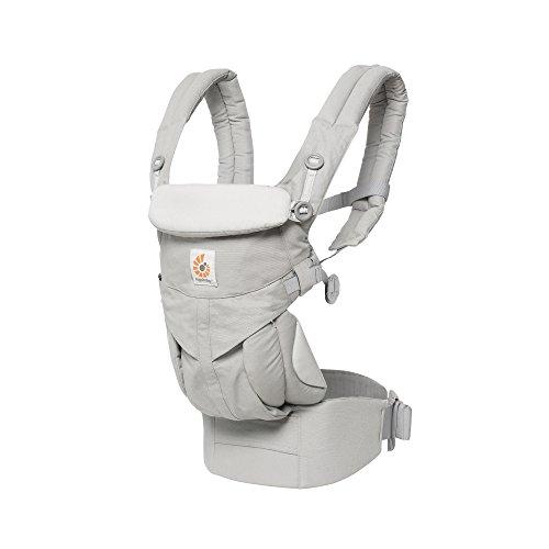ERGO Baby エルゴベビー Ergobaby 抱っこひも おんぶ 前向き抱き 洗濯機で洗える ベビーキャリア 成長にフィット オムニ360 パールグレー ADAPT CREGBCS360GRY
