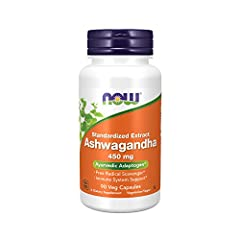 Ayurvedic adaptogen: Ashwagandha is used as a general tonic and adaptogen, helping the body adapt to temporary normal stress. Now Ashwagandha is a standardized extract (450 milligrams per serving). Take 1 capsule 2 to 3 times daily. Free radical scav...