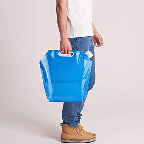 Enticerowts - Bolsa de almacenamiento de agua plegable para escalada al aire libre, contenedor de hidratación, no tóxico, respetuoso con el medio ambiente y limpio, fácil de transportar, color 1 color, tamaño 10 L
