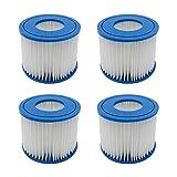YanBan 4 filtros de Cartucho de bañera de hidromasaje para Bestway, tamaño Vi, Cartucho de Filtro de Repuesto Compatible con Lay-Z-SPA, Miami, Vegas, Palm Springs, Paris Monaco