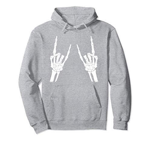 Skeleton Rocker Hoodie Halloween T.Rick Or Treat Gift for Men and Women