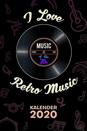 KALENDER 2020: A5 Party Terminplaner für Oldtimer mit DATUM - 52 Kalenderwochen für Termine & To-Do Listen - 70er Jahre Oldies Terminkalender Musik Schallplatte Jahreskalender 70s Party