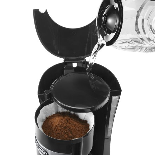 De'Longhi Filter Coffee Machine, 1.25 Liters, Auto shut off and Anti-Drip system, ICM15210.1 - Black