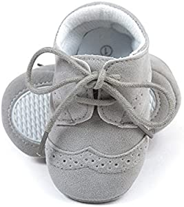 Zapatos sneakers para bebés, de cuero sintético gris Talla:3-6 meses
