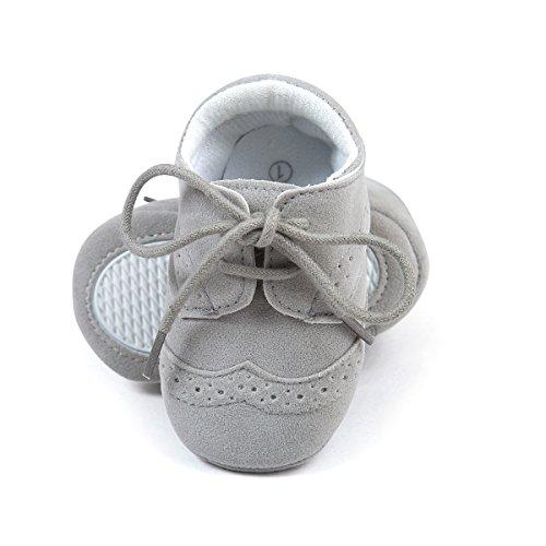Zapatos sneakers para bebés, de cuero sintético gris Talla:6-12 meses