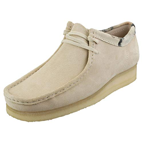 Clarks Wallabee Mens Casual Shoes 45.5 EU Off White