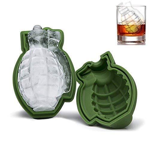 Uteruik Moule à glaçons 3D en forme de grenade en silicone