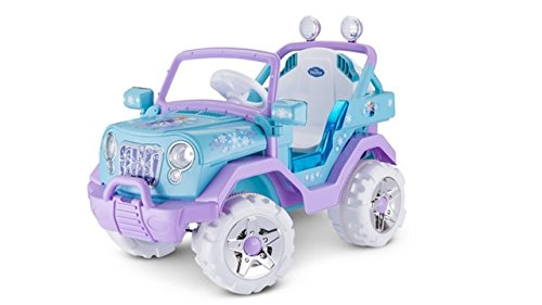 Kid Trax Disney Frozen Kids 4x4 Ride On Toy, 6 Volt, Kids 3-5 Years Old, Max Weight 55 lbs, Single Rider, Battery and Charger Included, Blue (KT1205)