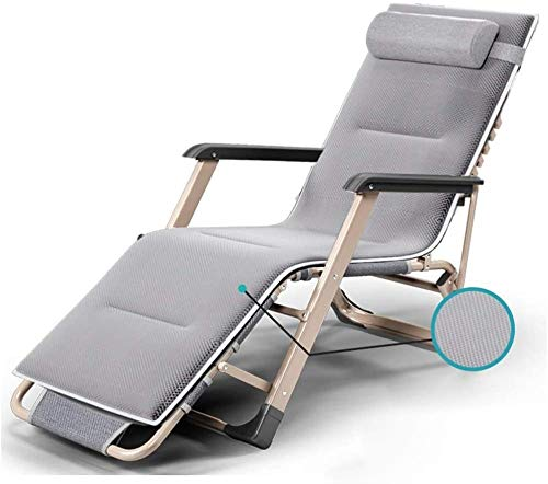 YYZZ Tumbona Plegable reclinable Silla Plegable de Viaje portátil Silla de Camping Playa Tumbona Jardín Patio Terraza Oficina de Ocio Sillón de Descanso Sillón B-UNA