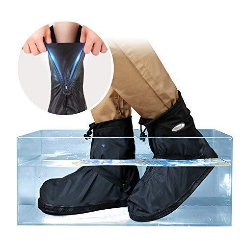 YMTECH Regenüberschuhe Wasserdicht Schuhe 1 Paar, Outdoor Rutschfester Radsportschuhe Überschuhe (38 – 39 EU) - 6