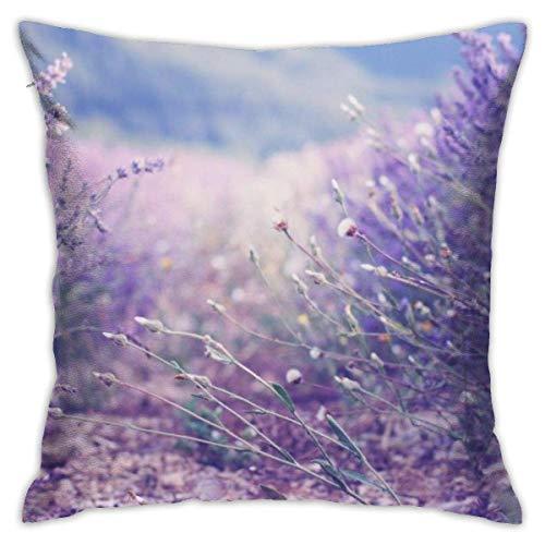 Hangdachang Throw Pillow Case 45cm x 45cm Lilcas Roadside Pillowcase,Square Throw Covers,Decorative Cushion for Sofa Couch Car